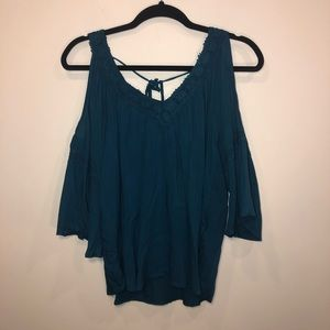 NWT UO Staring at Stars Guaze Cold Shoulder Blouse